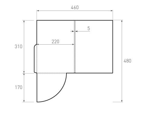 Штамп для вырубки папки фс 220x310x05. Привью 500x375 пикселов.