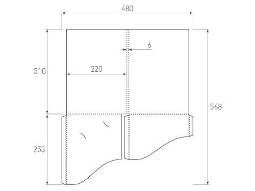 Штамп для вырубки папки фс 220x310x06 2 кармана. Привью 500x375 пикселов.