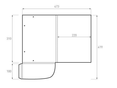 Штамп для вырубки папки фс 220x310x10 с резинками. Привью 500x375 пикселов.