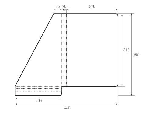 Штамп для вырубки папки фс 220x310x20 угол. Привью 500x375 пикселов.