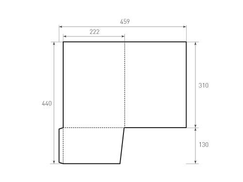 Штамп для вырубки папки фс 222x310. Привью 500x375 пикселов.