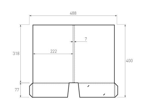 Штамп для вырубки папки фс 222x318x7. Привью 500x375 пикселов.