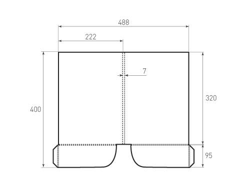 Штамп для вырубки папки фс 222x320x07 2 кармана. Привью 500x375 пикселов.