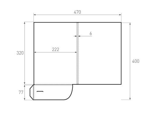 Штамп для вырубки папки фс 222x320x6. Привью 500x375 пикселов.