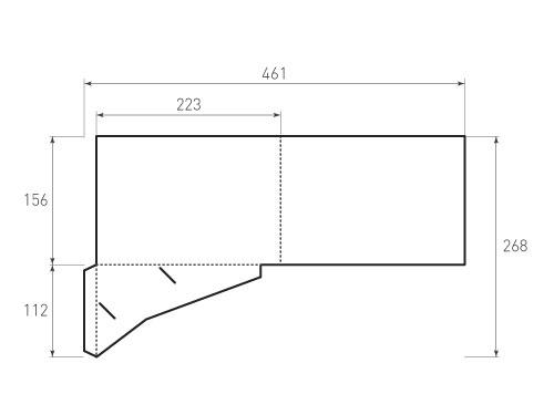 Штамп для вырубки папки фс 223x156 для A5 и визитки 85x55. Привью 500x375 пикселов.