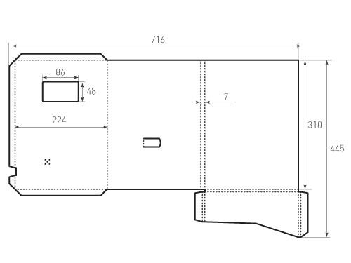 Штамп для вырубки папки фс 224x310x07 2Ф. Привью 500x375 пикселов.