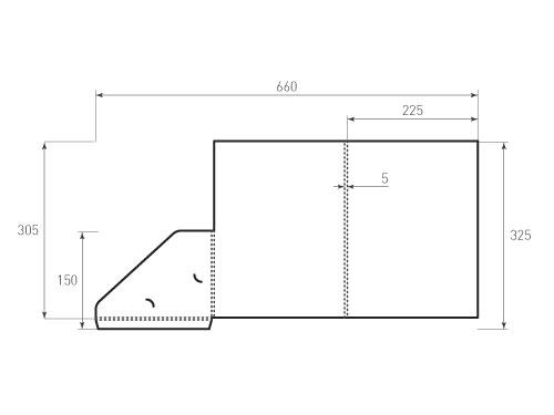 Штамп для вырубки папки фс 225x305x5. Привью 500x375 пикселов.