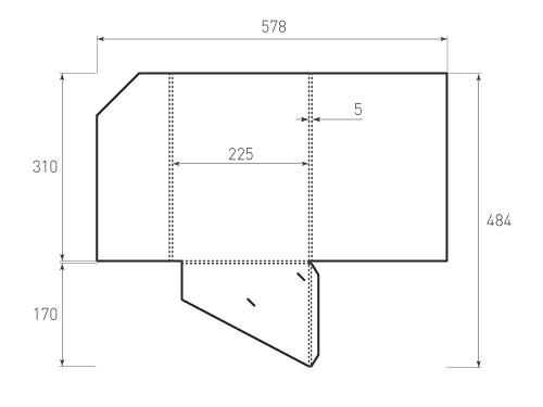 Штамп для вырубки папки фс 225x310x05. Привью 500x375 пикселов.