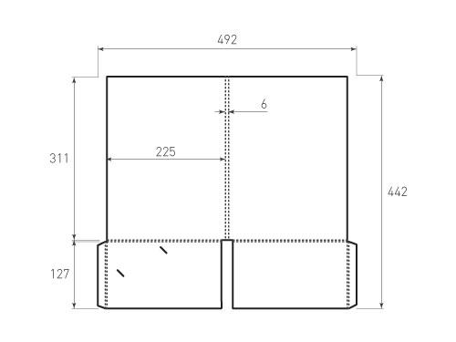 Штамп для вырубки папки фс 225x311x6 с 2 карманами. Привью 500x375 пикселов.
