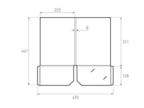 Штамп для вырубки папки фс 225x311x8 с 2 карманами. Привью 500x375 пикселов.