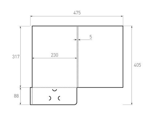Штамп для вырубки папки фс 230x317x5. Привью 500x375 пикселов.