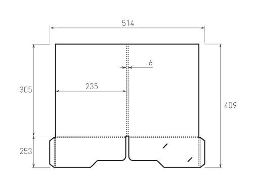 Штамп для вырубки папки фс 235x305x6 с 2 карманами. Привью 500x375 пикселов.