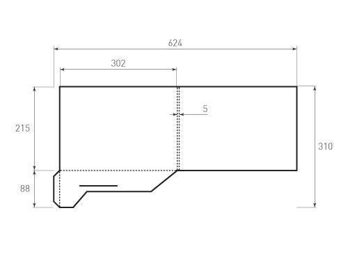 Штамп для вырубки папки фс 302x215x5 с 2 карманами. Привью 500x375 пикселов.