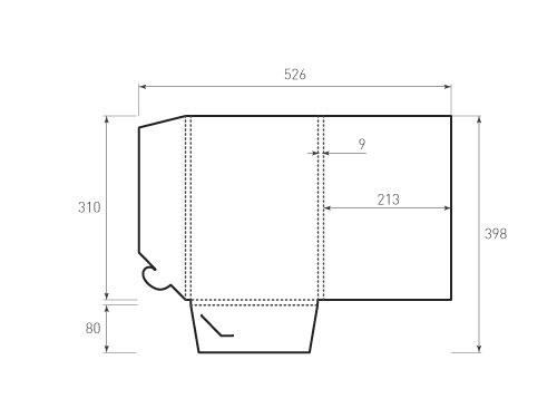 Штамп для вырубки папки fv 213x310x9. Привью 500x375 пикселов.