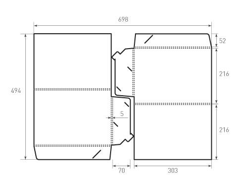 Штамп для вырубки папки фв 216x303x5 2 штуки на штампе. Привью 500x375 пикселов.