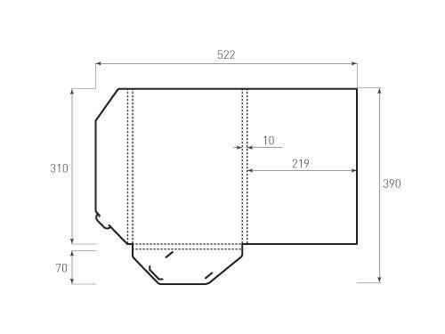 Штамп для вырубки папки фв 219x310x10. Привью 500x375 пикселов.
