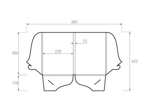 Штамп для вырубки папки фв 220x305x13 с 2 карманами. Привью 500x375 пикселов.