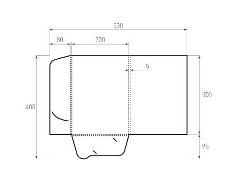 Штамп для вырубки папки фв 220x305x5. Привью 500x375 пикселов.