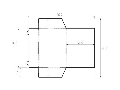 Штамп для вырубки папки фв 220x310. Привью 500x375 пикселов.