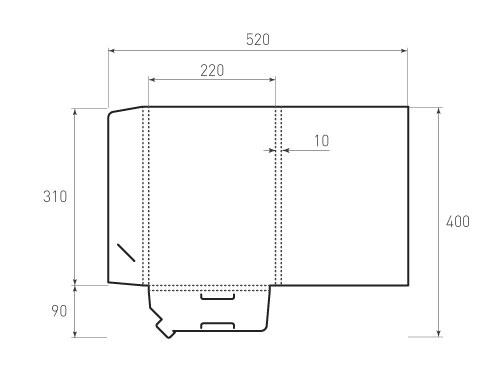 Штамп для вырубки папки фв 220x310x10 версия 1. Привью 500x375 пикселов.