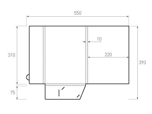 Штамп для вырубки папки фв 220x310x10 версия 2. Привью 500x375 пикселов.
