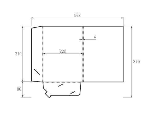 Штамп для вырубки папки фв 220x310x4 версия 1. Привью 500x375 пикселов.