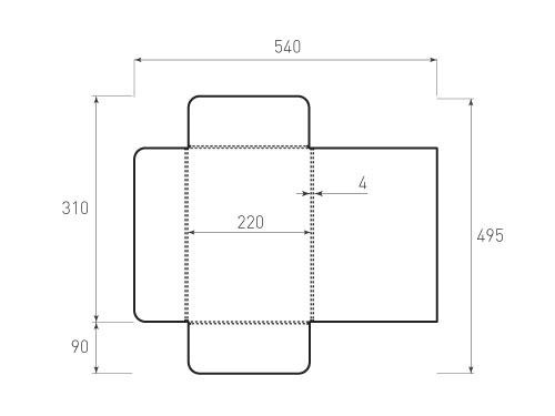 Штамп для вырубки папки фв 220x310x4 версия 2. Привью 500x375 пикселов.