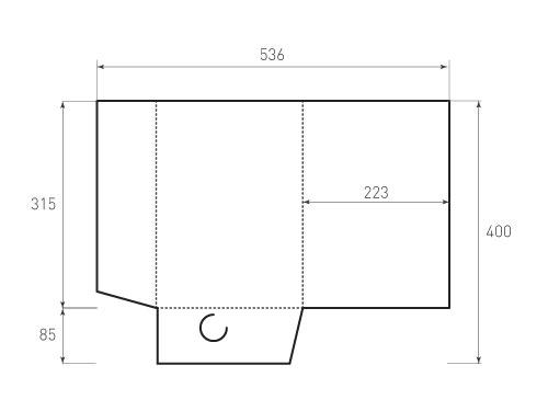 Штамп для вырубки папки фв 223x315. Привью 500x375 пикселов.