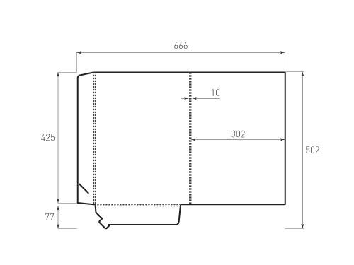 Штамп для вырубки папки фв 302x425x10. Привью 500x375 пикселов.