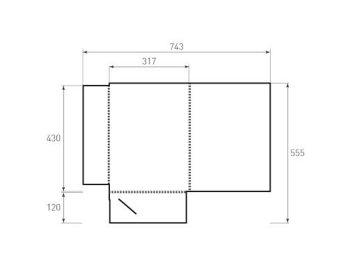 Штамп для вырубки папки фв 317x430x5. Привью 500x375 пикселов.