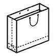 Штамп для вырубки горизонтального бумажного пакета g 276-230-125 (1 шт. на штампе). Привью 110x110 пикселов.