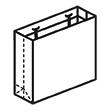 Штамп для вырубки горизонтального бумажного пакета g 319-259-102 (1 шт. на штампе). Привью 110x110 пикселов.