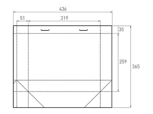 Штамп для вырубки горизонтального бумажного пакета g 319-259-102 (1 шт. на штампе). Привью 500x375 пикселов.