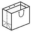 Штамп для вырубки горизонтального бумажного пакета g 600-450-340 (1 шт. на штампе). Привью 110x110 пикселов.