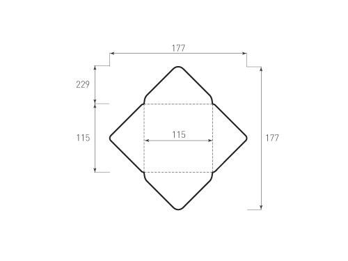 Штамп для вырубки квадратного конверта kd 115x115 (1 шт. на штампе). Привью 500x375 пикселов