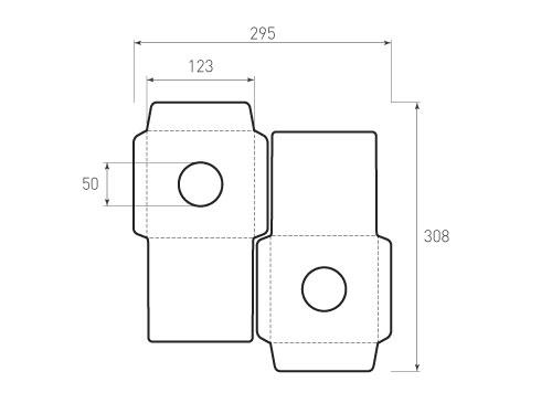 Штамп для вырубки квадратного конверта kd 123x123 CD (1 шт. на штампе). Привью 500x375 пикселов