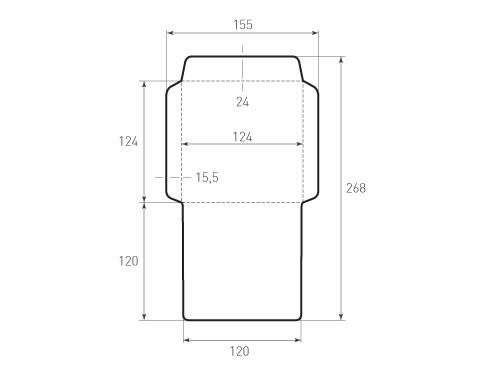 Штамп для вырубки квадратного конверта kd 126x126 CD (1 шт. на штампе). Привью 500x375 пикселов