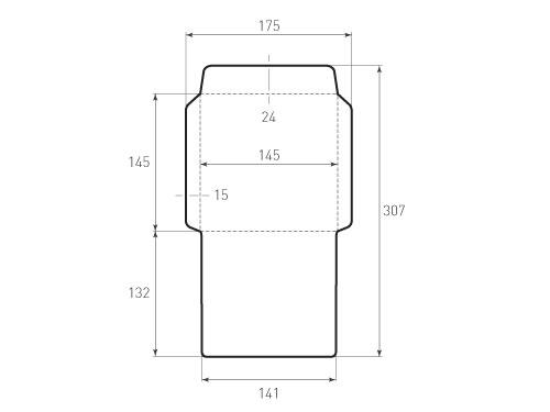 Штамп для вырубки квадратного конверта kd 145x145 (1 шт. на штампе). Привью 500x375 пикселов
