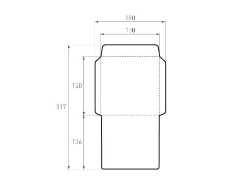 Штамп для вырубки квадратного конверта kd 150x150 (1 шт. на штампе). Привью 500x375 пикселов