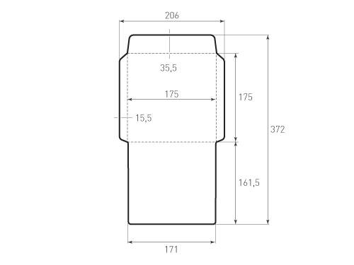 Штамп для вырубки квадратного конверта kd 175x175 (1 шт. на штампе). Привью 500x375 пикселов