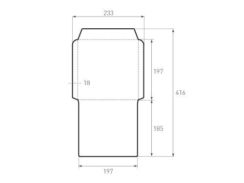 Штамп для вырубки квадратного конверта kd 197x197 (1 шт. на штампе). Привью 500x375 пикселов