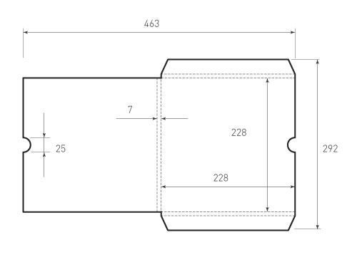 Квадратный конверт KD 228x228x7