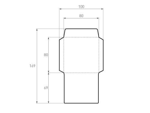 Штамп для вырубки квадратного конверта kd 80x80 (1 шт. на штампе). Привью 500x375 пикселов