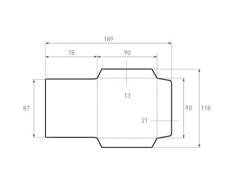 Штамп для вырубки квадратного конверта kd 90x90 (1 шт. на штампе). Привью 500x375 пикселов