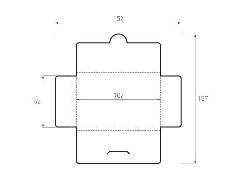 Штамп для вырубки горизонтального конверта kg 102x62x4 (1 шт. на штампе). Привью 500x375 пикселов