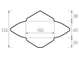 Горизонтальный конверт 103x60