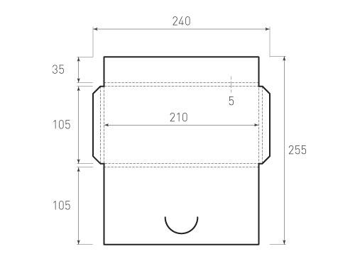 Штамп для вырубки горизонтального конверта kg 105x210x5 (1 шт. на штампе). Привью 500x375 пикселов