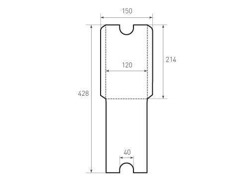 Горизонтальный конверт 120x214 без клапана