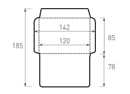 Горизонтальный конверт 120x85