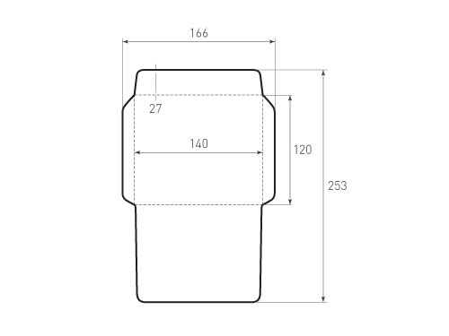 Штамп для вырубки горизонтального конверта kg 140x120 (1 шт. на штампе). Привью 500x375 пикселов